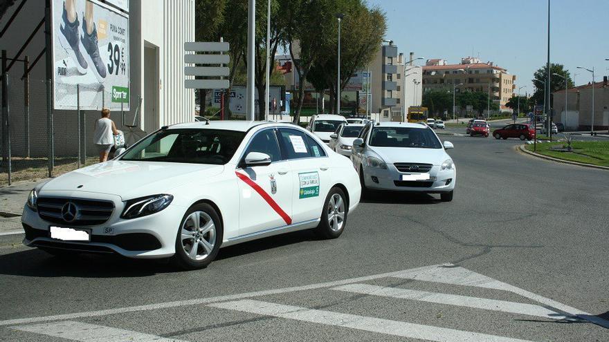 Protestas de taxis en Albacete