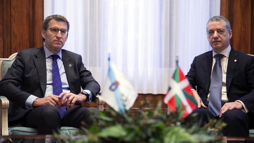 Urkullu y Feijóo defienden la estabilidad institucional basada en acuerdos