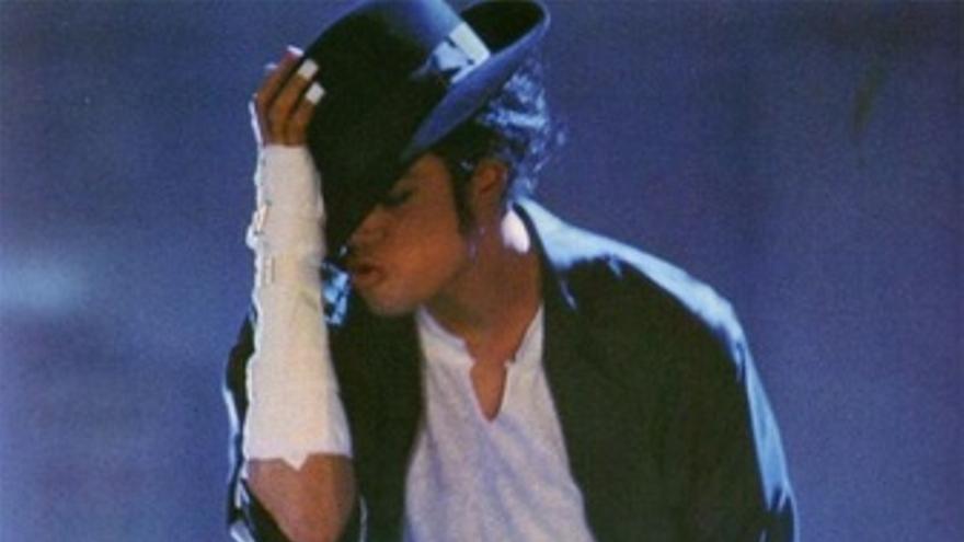 El cantante Michael Jackson durante un concierto