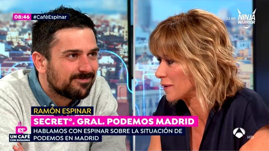 Ramón espinar y Susanna Griso, en Espejo Público