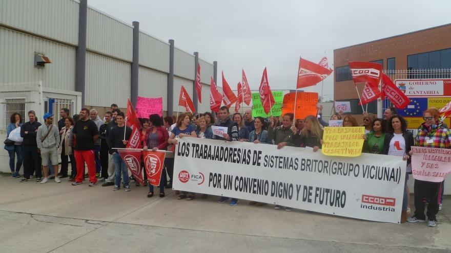La plantilla de Sistemas Britor rechaza el preacuerdo con la empresa e inicia huelga general indefinida