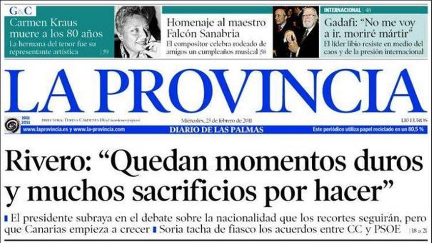 De las portadas del día (23/02/11) #1