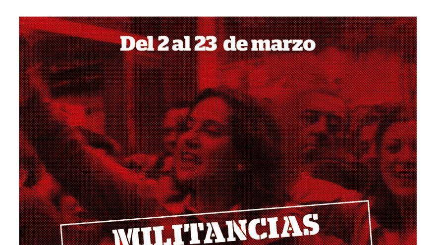 Cartel de la tercera edición del ciclo 'Militancias'.