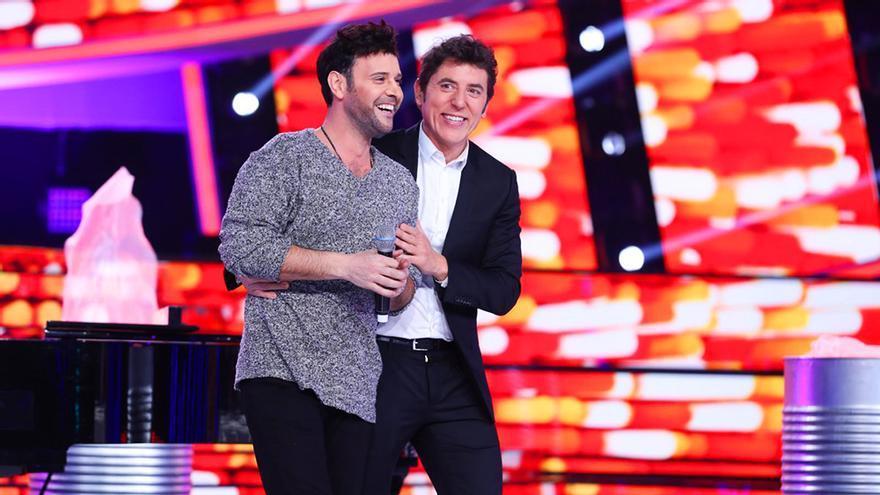 Miquel Fernández y Manel Fuentes, durante la final de TCMS 6