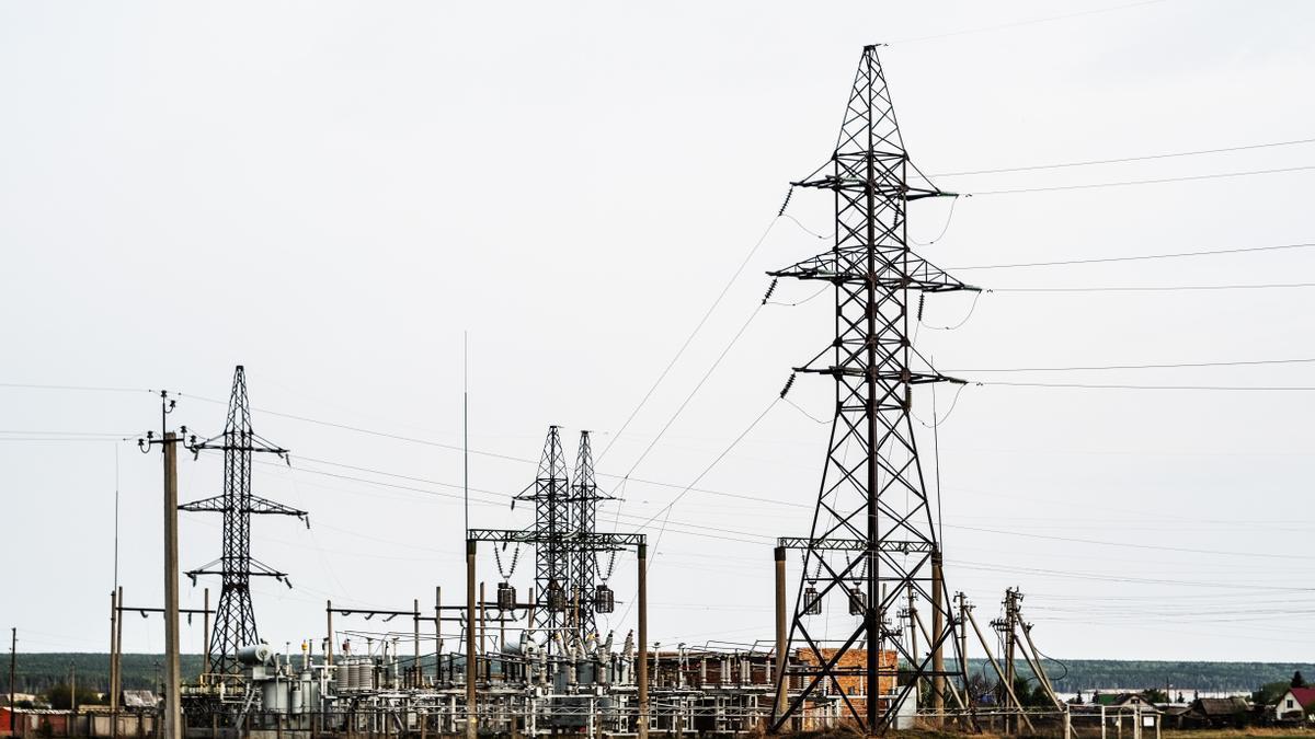 Una subestación eléctrica, en una imagen de archivo