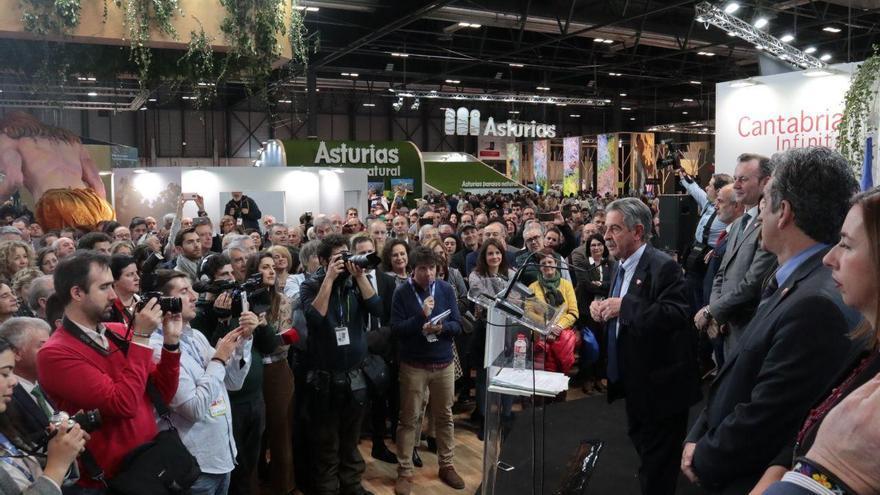 Miguel Ángel Revilla durante el discurso del Día de Cantabria en Fitur 2020.
