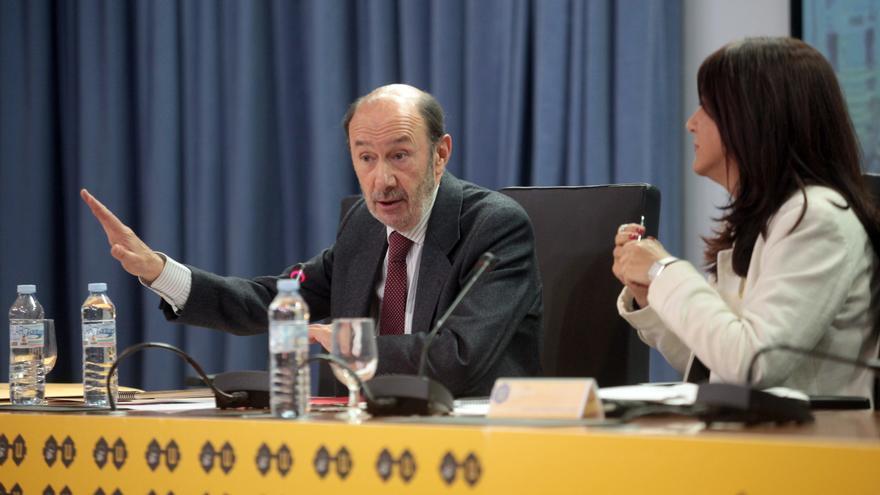Alfredo Pérez Rubalcaba en la Universidad de Sevilla / Luis Serrano