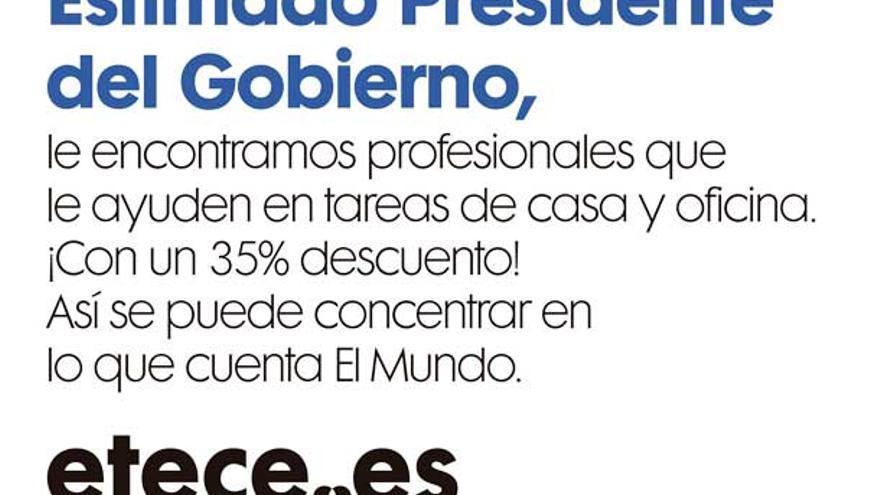 """Campaña etece.es, primera versión """"El Mundo"""""""
