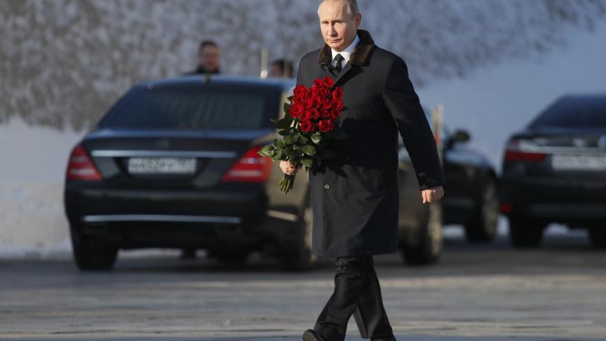 Putin en la ceremonia por el 75º aniversario de la batalla de Stalingrado el 2 de febrero.