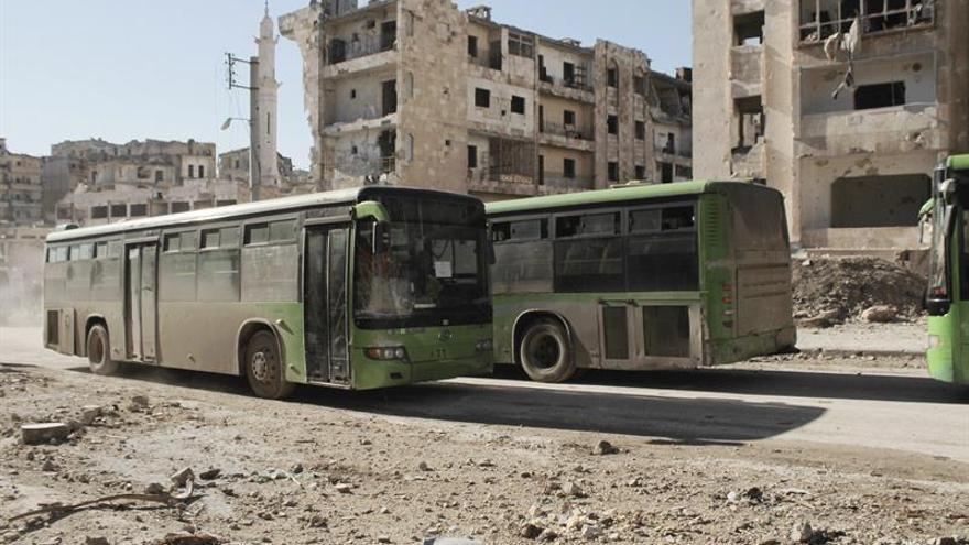 Suspendida la evacuación de personas del este de Alepo