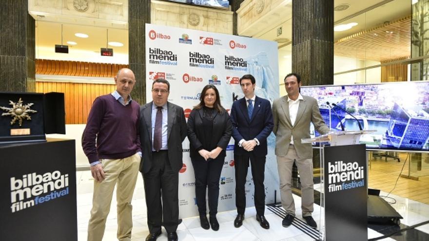 Durante la presentación del Bilbao Mendi Film Festival 2015.