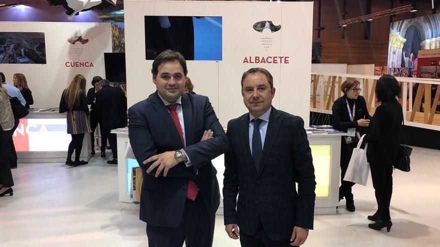 Francisco Nuñez y Antonio Martínez en FITUR. FOTO: PP
