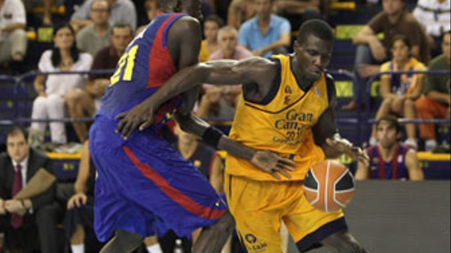 Savané, el jugador más regular del Gran Canaria 2014 en lo que va de temporada. (QUIQUE CURBELO)