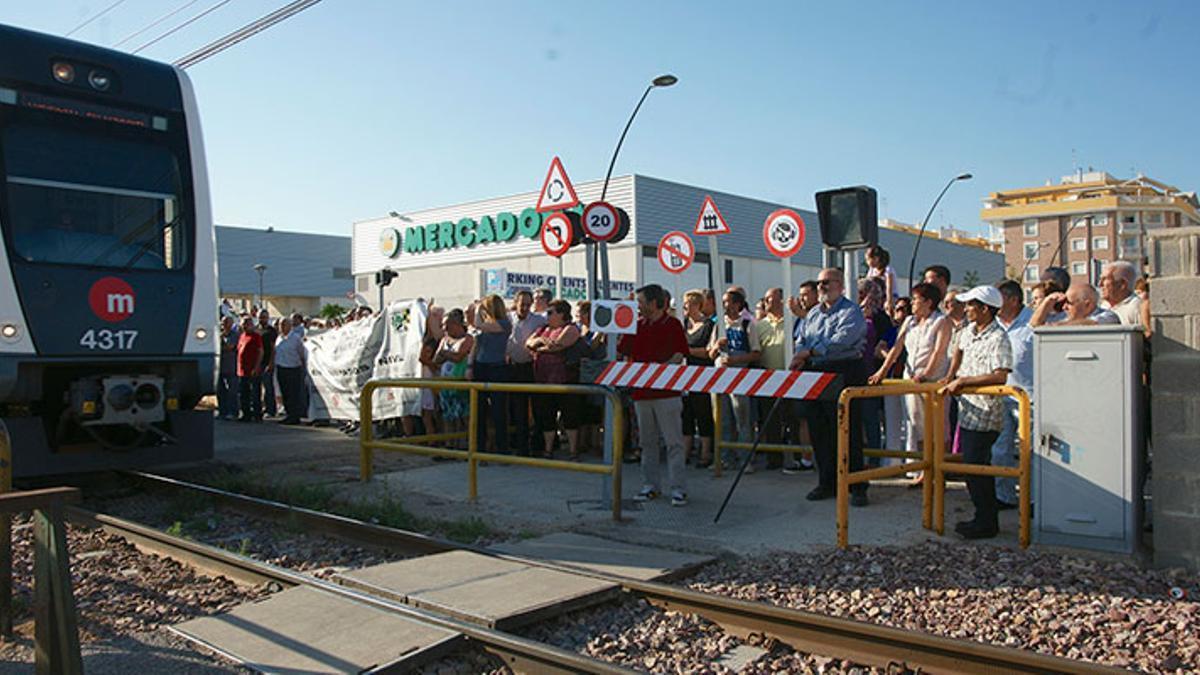 Imatge d'una de les protestes a Paterna.