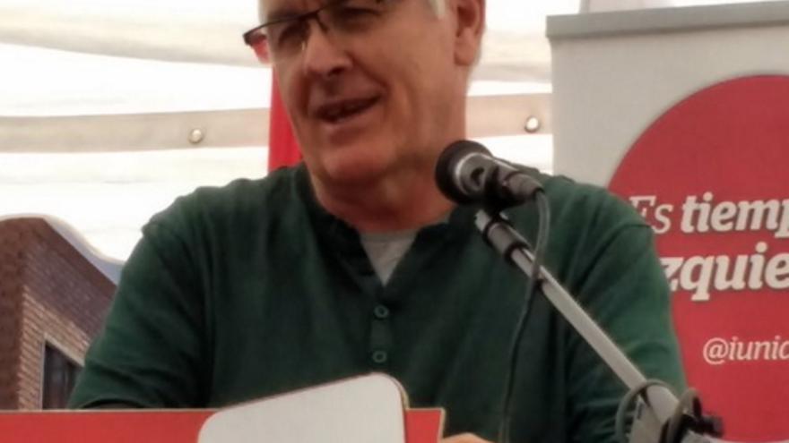 El coordinador federal de IU, Cayo Lara, en Mocejón (Toledo)