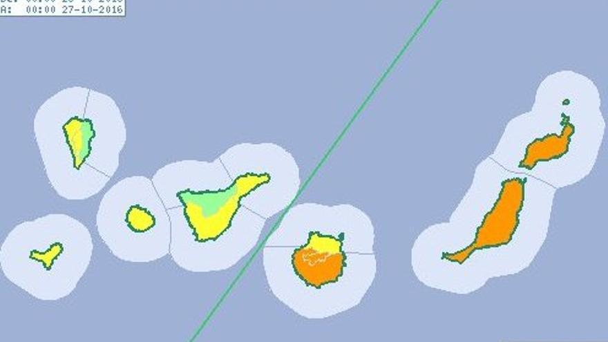 Alerta naranja en la provincia de Las Palmas