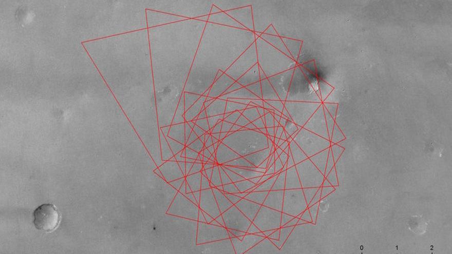 Secuencia de aterrizaje del Schiaparelli