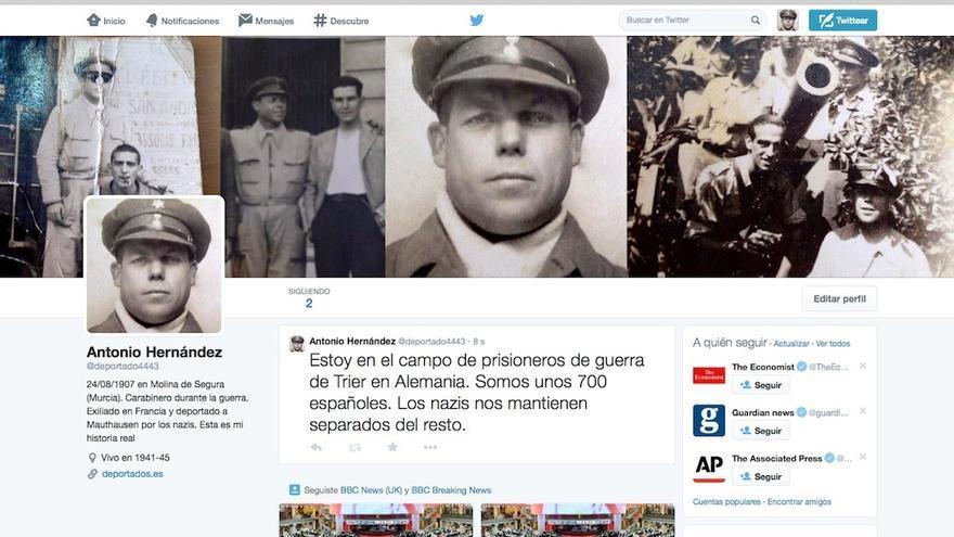 La portada de la cuenta de Twitter desde la que Antonio Hernández Marín retransmitía su 'encierro'