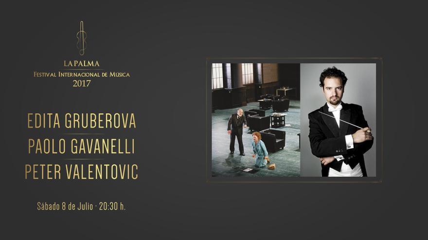Cartel de la actuación de este sábado, 8 de julio,  de Gruberova, Gavanelli y Valentovic en el Teatro Circo de Marte.
