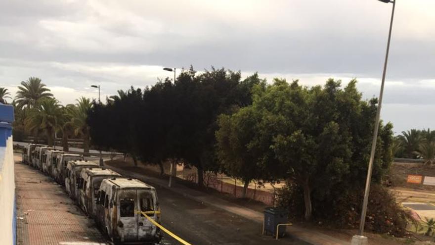 Ambulancias incendiadas en Telde