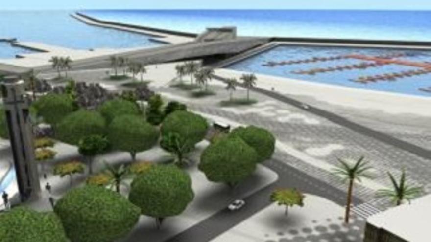 Imagen del resultado final de la vía litoral cuando esté culminada.