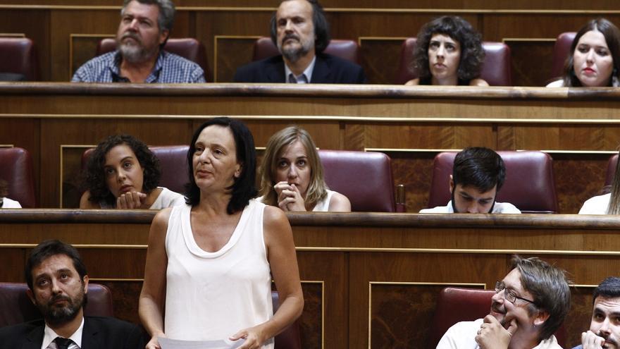 Bescansa en el Congreso de los diputados, en una imagen de archivo