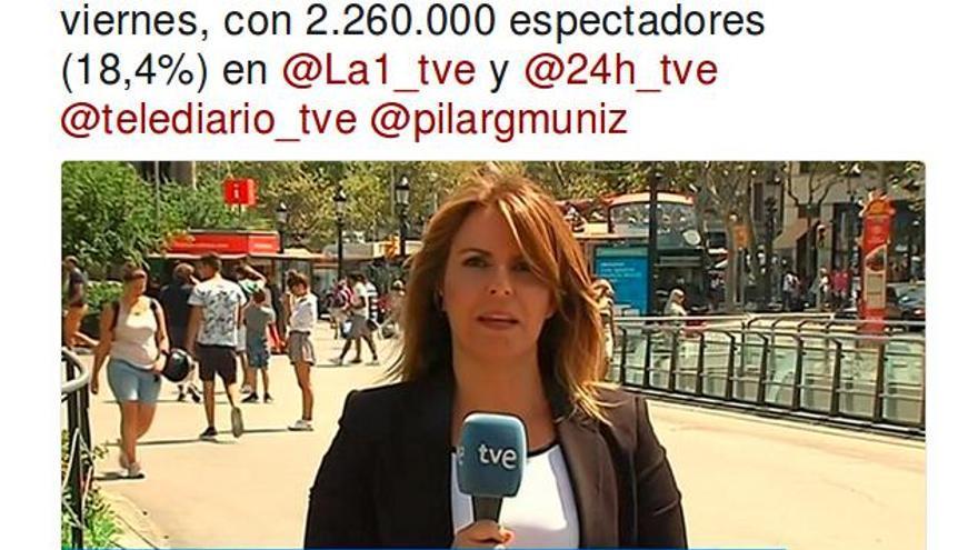 TVE presume de audiencia después de los atentados