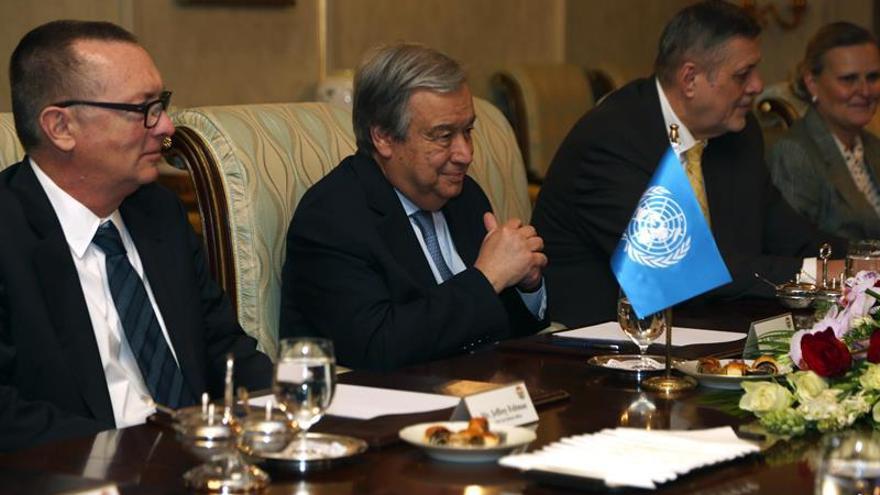 Guterres pide apoyo internacional para mejorar la vida de los desplazados en Mosul