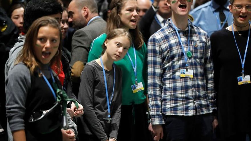 Greta Thunberg  llega a la Cumbre del Clima de Madrid