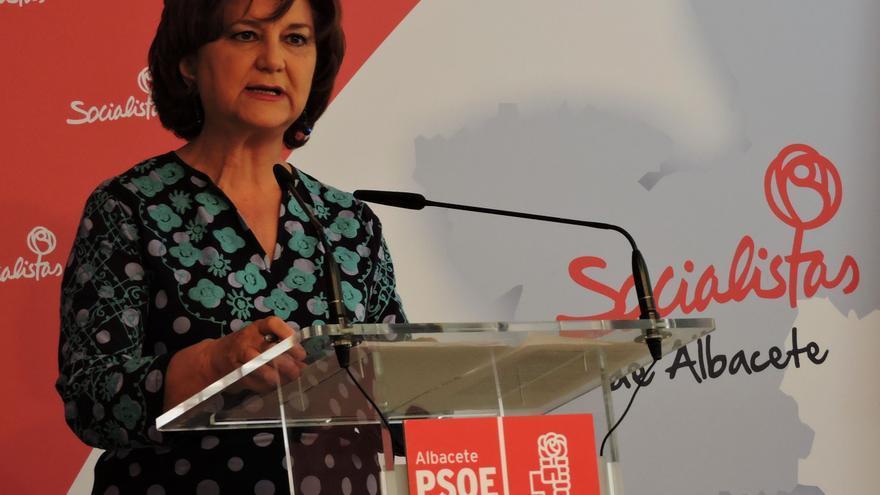 La presidenta del PSOE de Castilla-La Mancha, Matilde Valentín