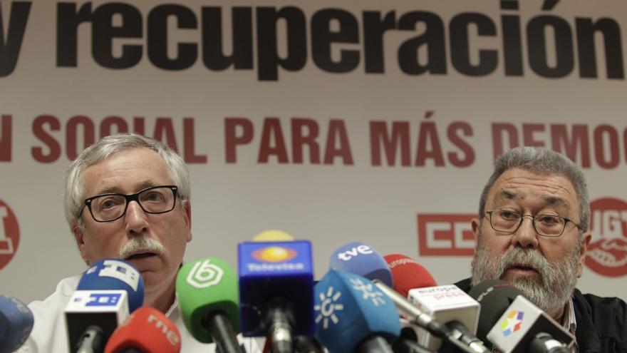 Toxo y Méndez denuncian ante la Fiscalía y el CGPJ el aumento de casos penales contra sindicalistas