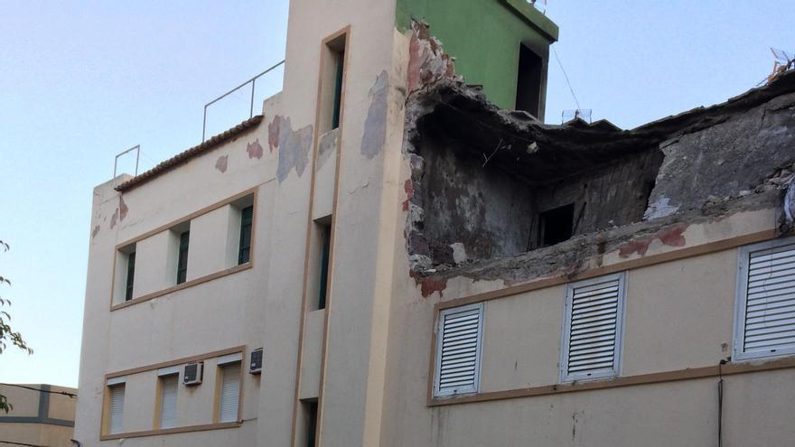 Estado en el que quedó el edificio tras la explosión. (CANARIAS AHORA)