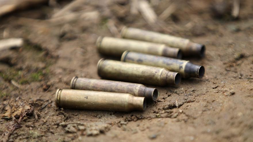 Vista el pasado 30 de octubre de 2019 de unos casquillos de bala de fusil.