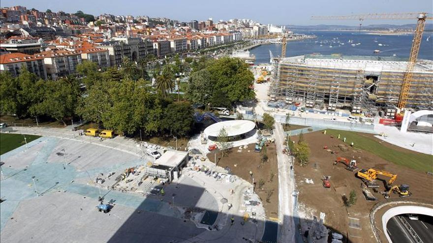 Los nuevos jardines de Pereda junto al Centro Botín.