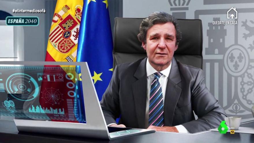 Joaquín Reyes parodia al Froilán del futuro en El Intermedio