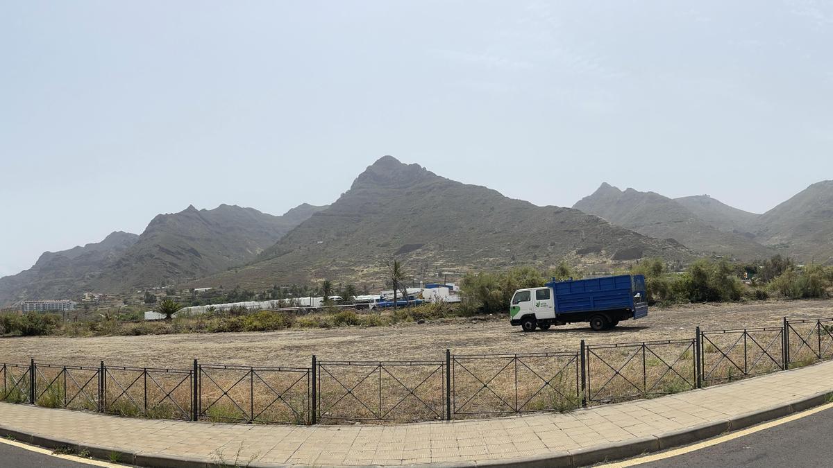 Parcela en la que se ubicará el parque, en Bajamar
