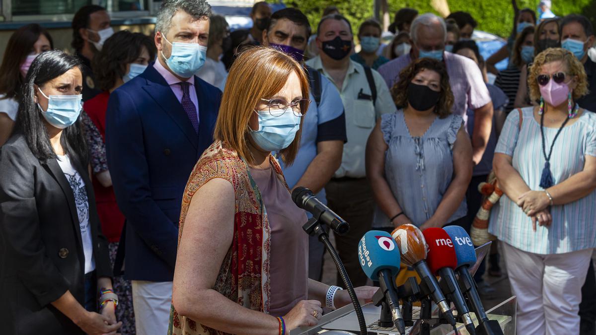 La consejera Isabel Franco, este lunes, tras el pleno de constitución del Observatorio