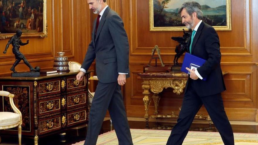 Lesmes presenta a Felipe VI las actividades del Supremo y el Poder Judicial