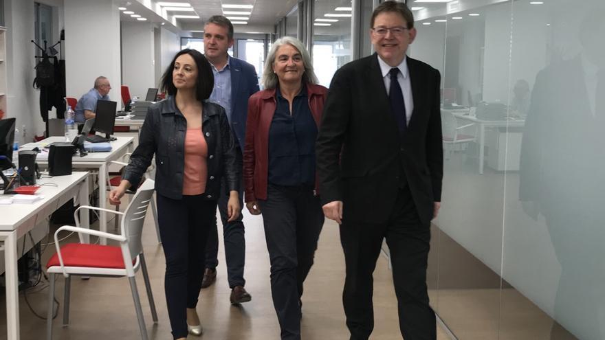 Ximo Puig, junto con Rebeca Torró, Margarita Llaudes y Jaime Peris
