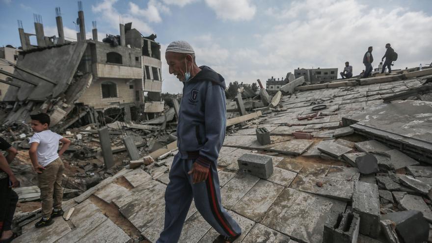 Edificios destruidos en el norte de Gaza