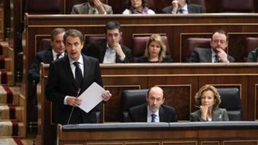 Zapatero, Salgado y Rubalcaba en el Congreso