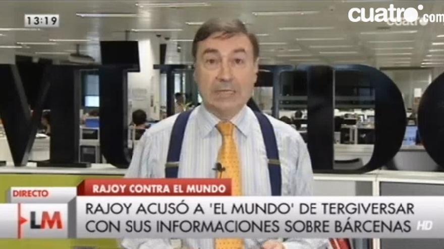 Pedro J. Ramírez en Las Mañanas de Cuatro respondiendo a las críticas de Rajoy por sus informaciones