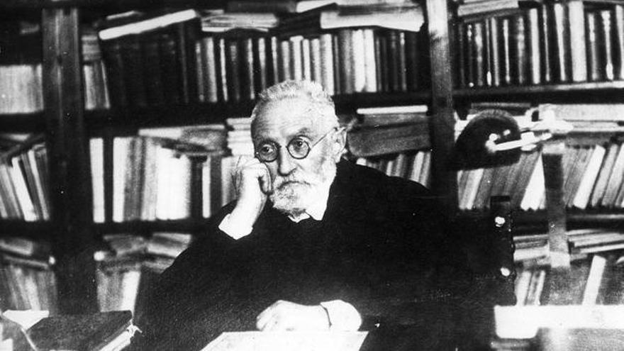 El escritor Miguel de Unamuno.