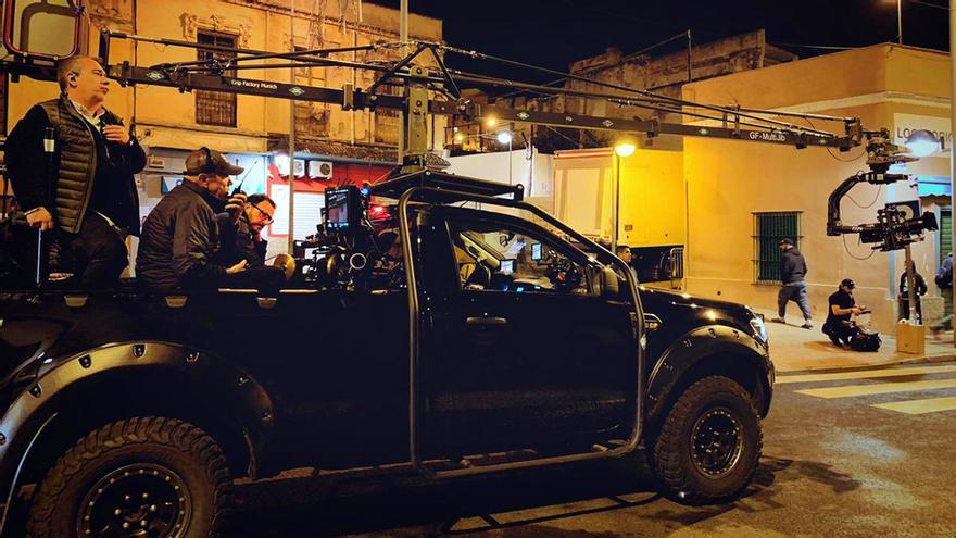 Imagen del rodaje en Melilla de 'La Unidad' de Movistar