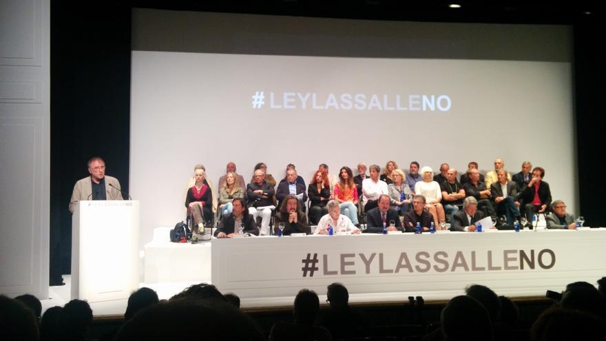El presidente de la SGAE habla en el acto contra la Ley Lasalle   Marilín Gonzalo