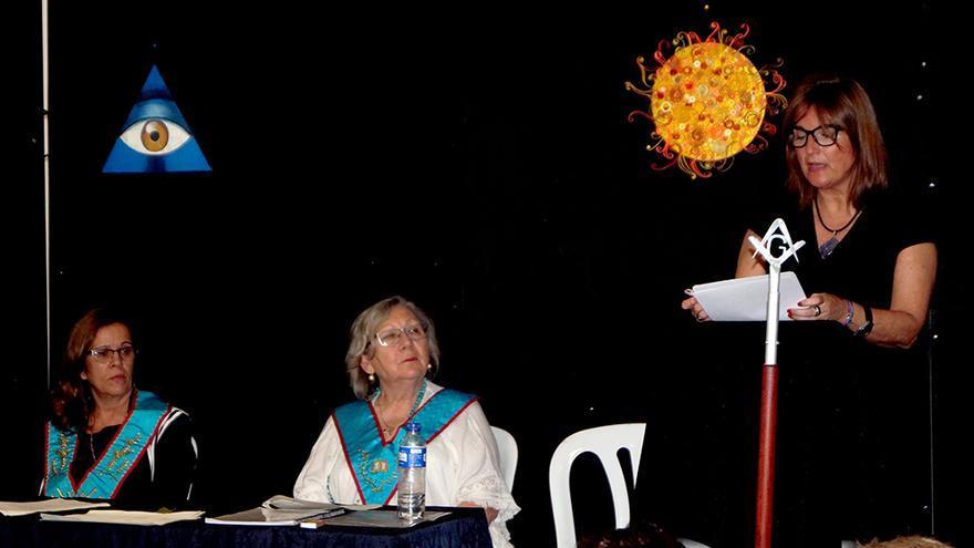 Patricia Planas durante la conferencia.