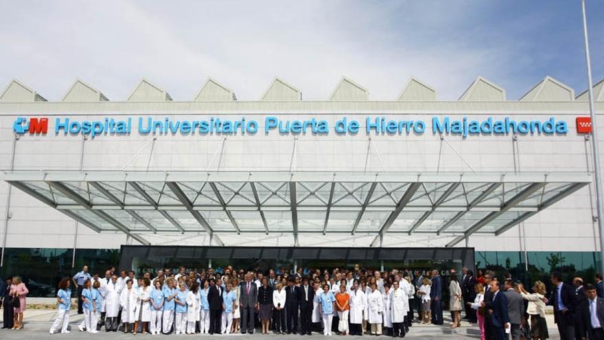 El hospital Puerta de Hierro.