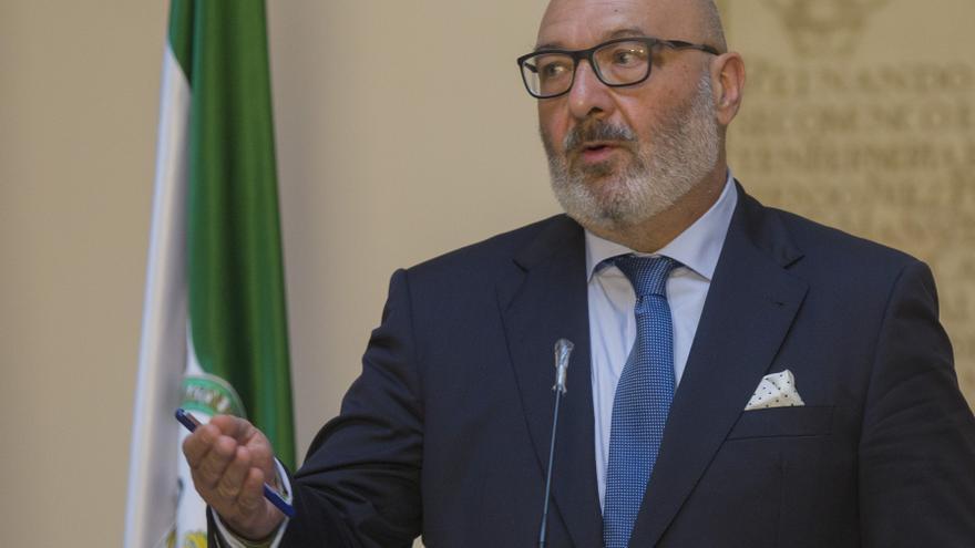 El portavoz del grupo parlamentario Vox en Andalucía, Alejandro Hernández, en una foto de archivo.