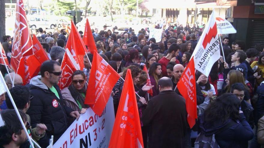 Huelga educación en Albacete
