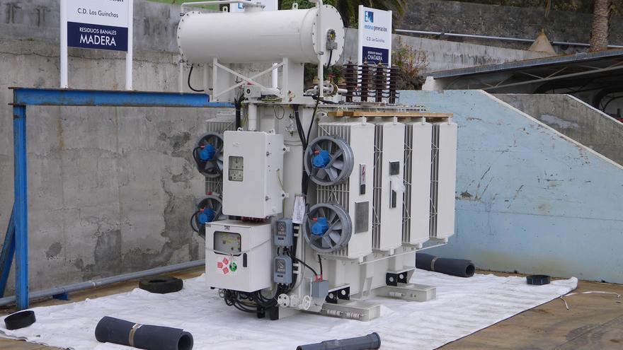 En la imagen, el poli-transformadores instalado en Los Guinchos. Foto: Endesa.